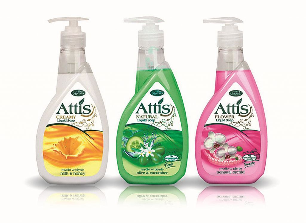 Tekuté mýdlo Cleanex Trade ATTIS oliva a okurka 1ks