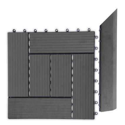 Přechodová lišta G21 pro WPC dlaždice Eben, 38,5×7,5 cm rohová (pravá)