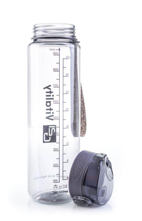 Láhev G21 na pití, 1000 ml, šedá