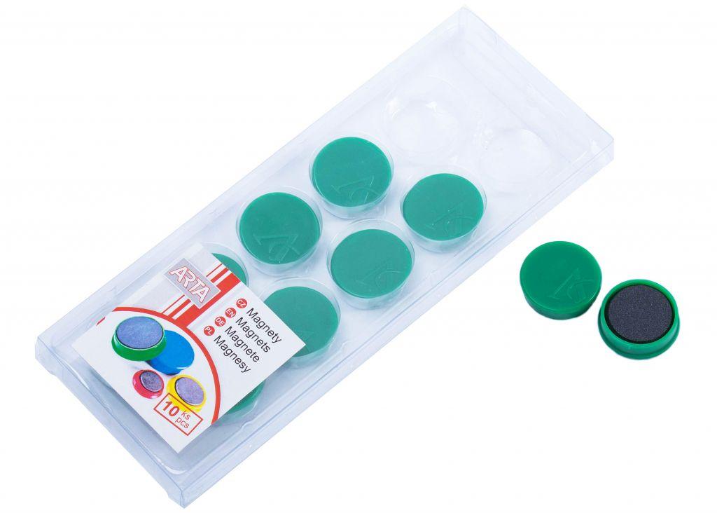 Sada ARTA magnetů průměr 25 mm - zelené, 10ks