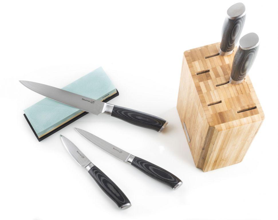 G21 Stojan na nože – bambusový, pro 5 nožů