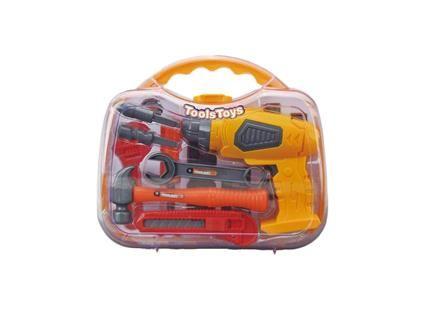 G21 Hračka dětské nářadí s vrtačkou v kufříku – žluto/šedé