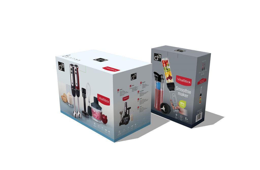 G21 Set mixér VitalStick 800 W, černý + Smoothie maker