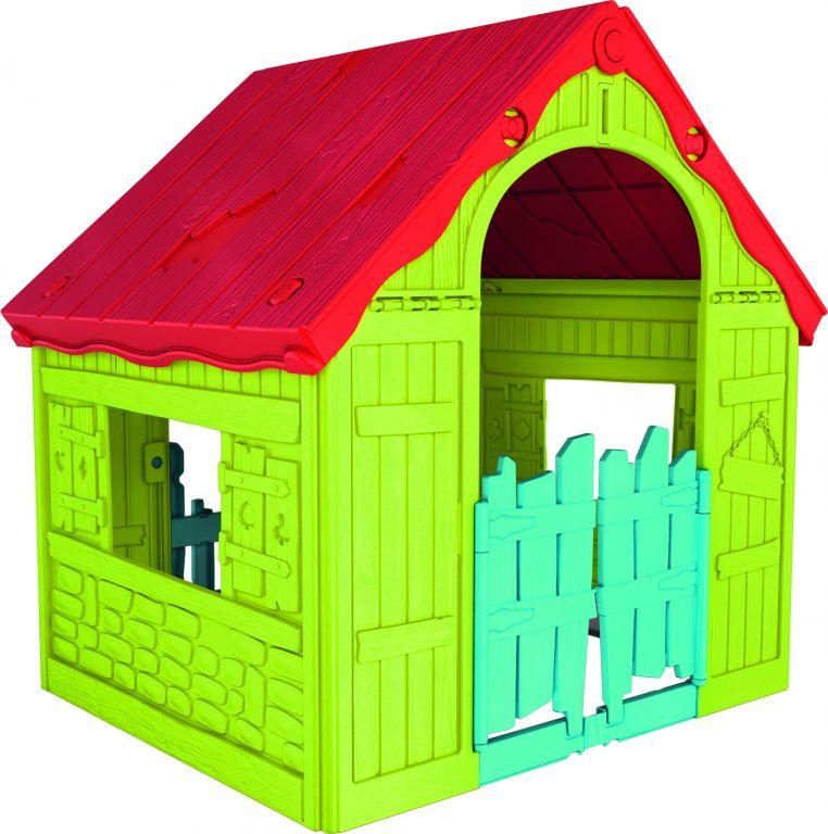 Keter zahradní dětský domek – plastový, červeno/zelený