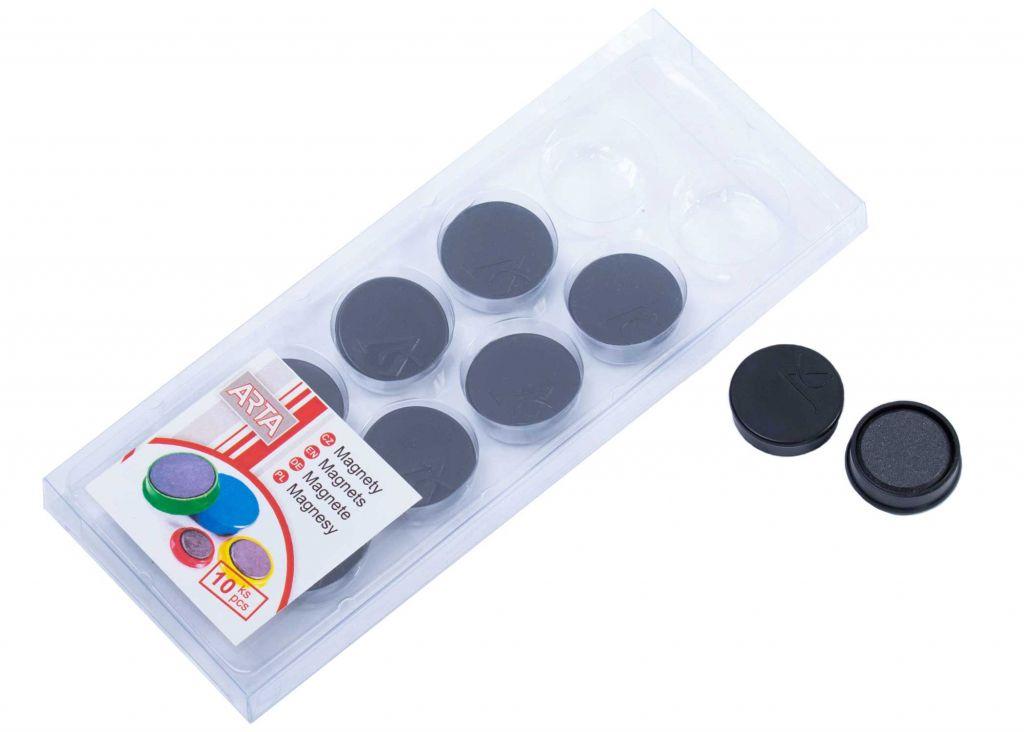 Sada magnetů - černé, 10 ks