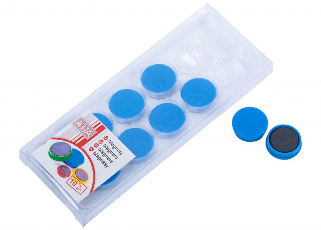 Sada ARTA magnetů průměr 25 mm - modré, 10ks