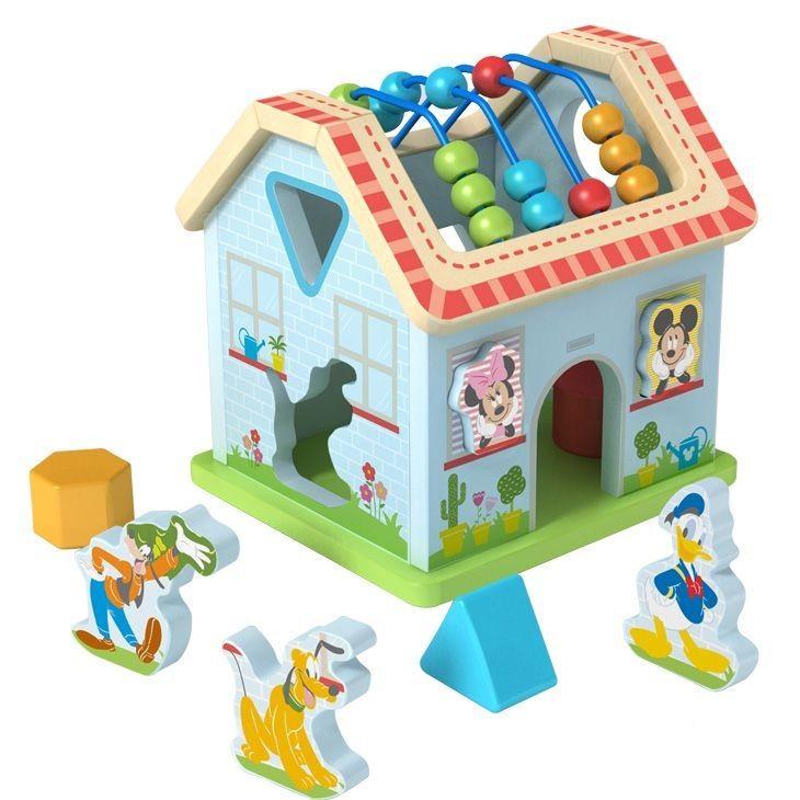 Disney dřevěný motorický domeček - Mickeyho svět