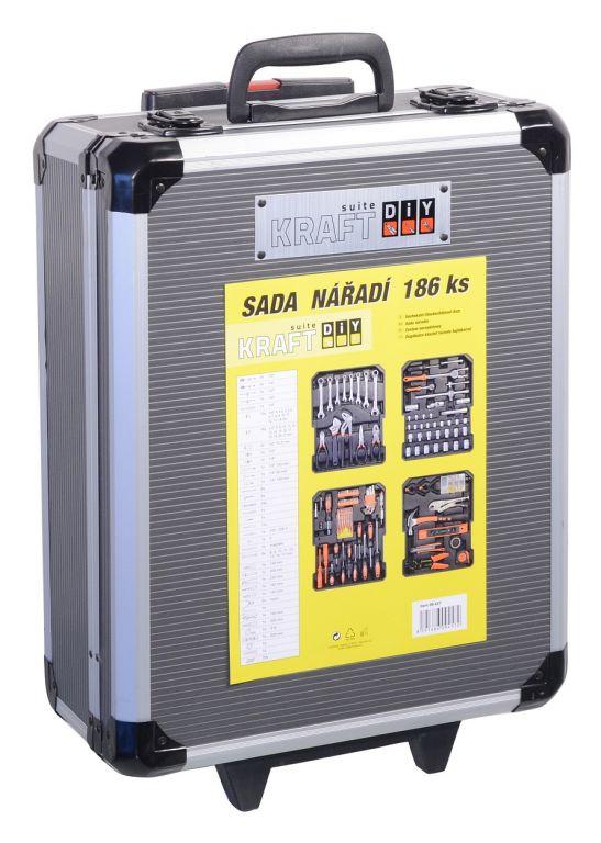 Sada nářadí v praktickém kufříku – 186 dílů