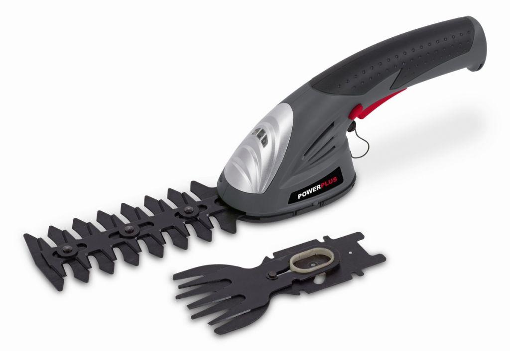 Powerplus nůžky na trávu s lištou na keře