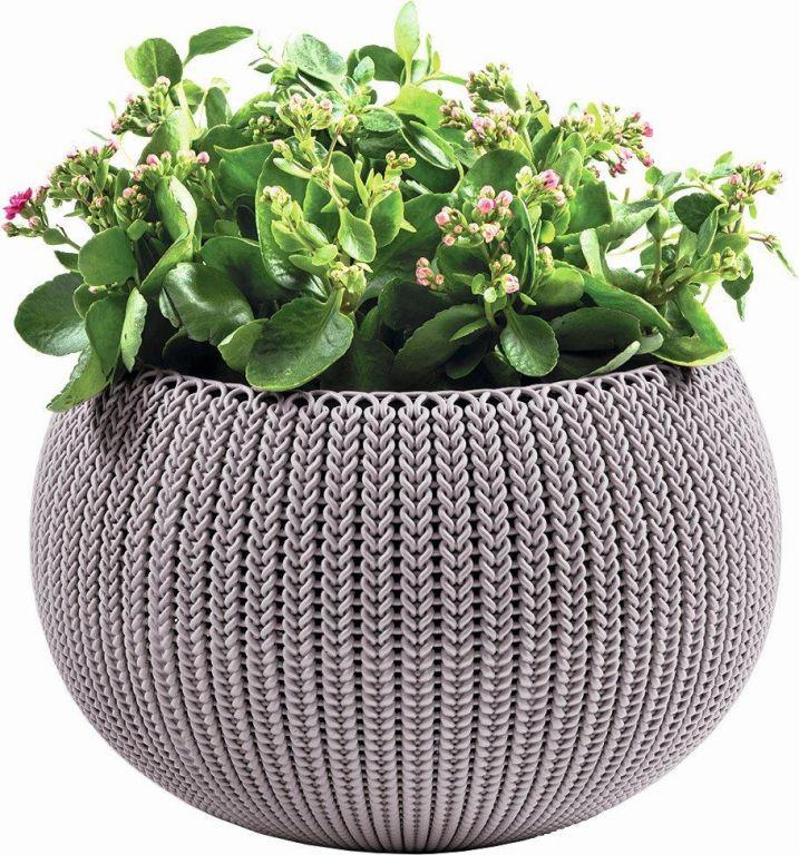 KETER Květináč COZY M závěsný – fialová