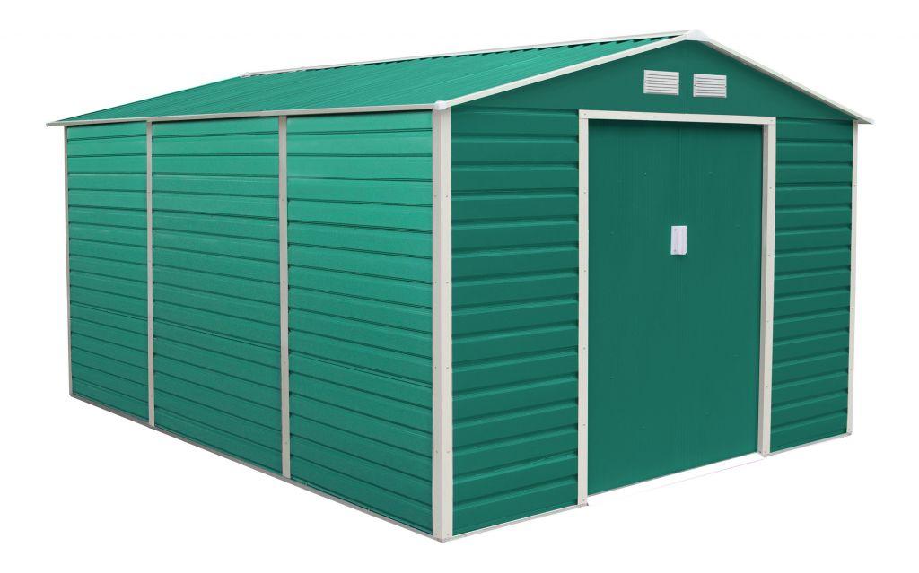 G21 Zahradní domek GAH 1300 - 340 x 382 cm, zelený