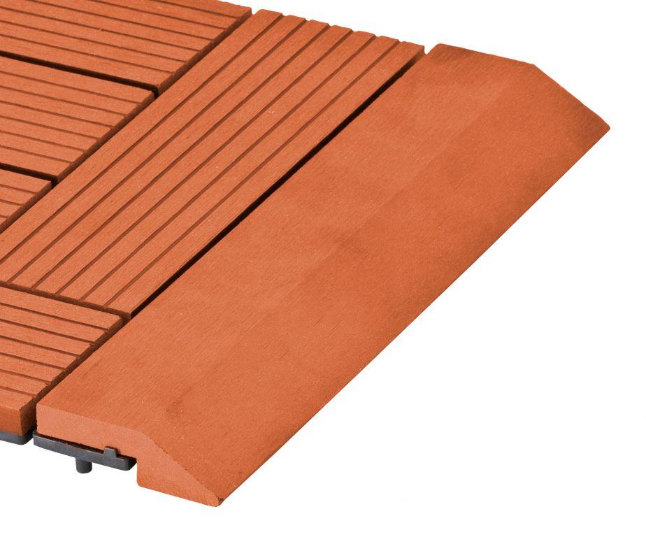 Přechodová lišta třešeň pro WPC rovná - 300 x 75 mm