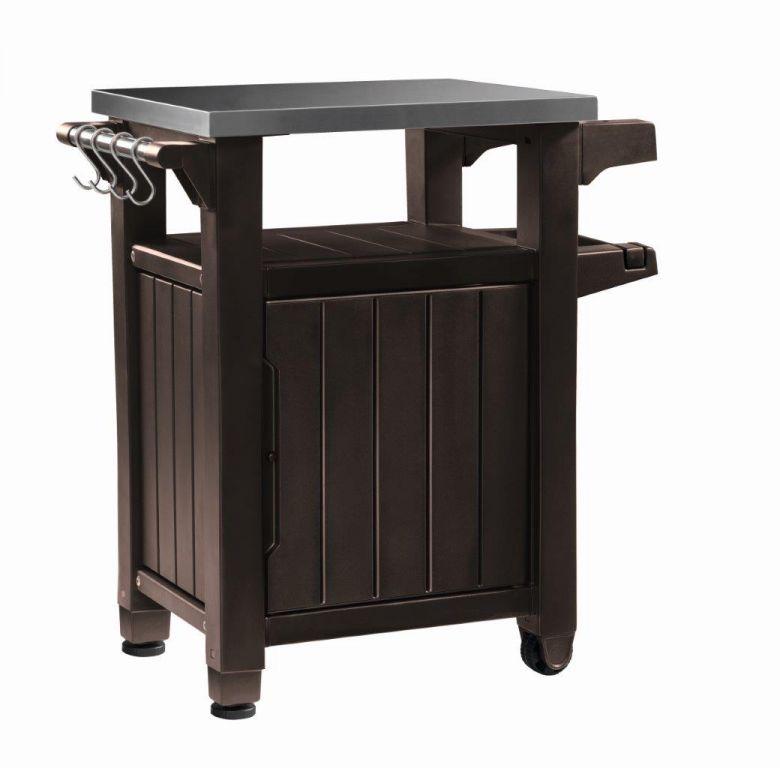 KETER Grilovací stolek UNITY – 105 l, hnědý