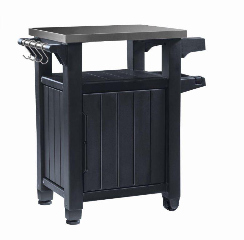 Keter grilovací stolek UNITY - 105l, grafitový