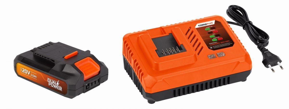 Powerplus sada nabíječka - 20/40V + baterie 20V