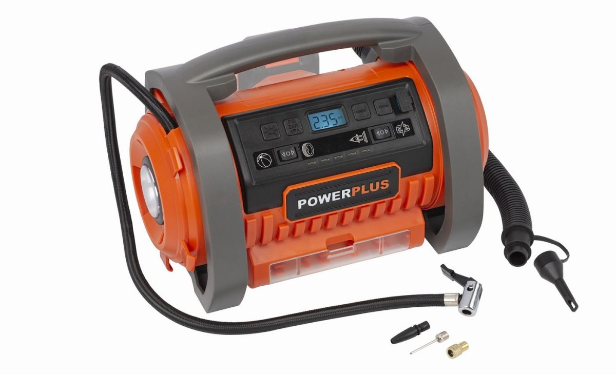 Powerplus kompresor - 20 V + 220 V bez baterie