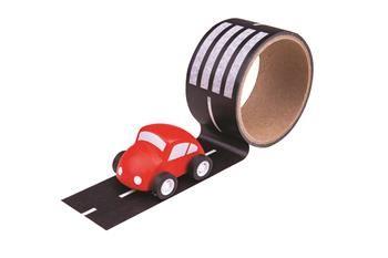 Bigjigs Toys lepící páska - cesta s autíčkem