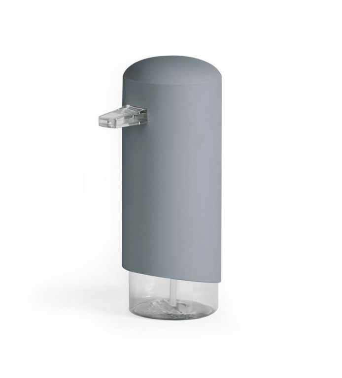 Dávkovač Compactor Clever mýdlové pěny, ABS + odolný PETG plast - šedý, 360 ml