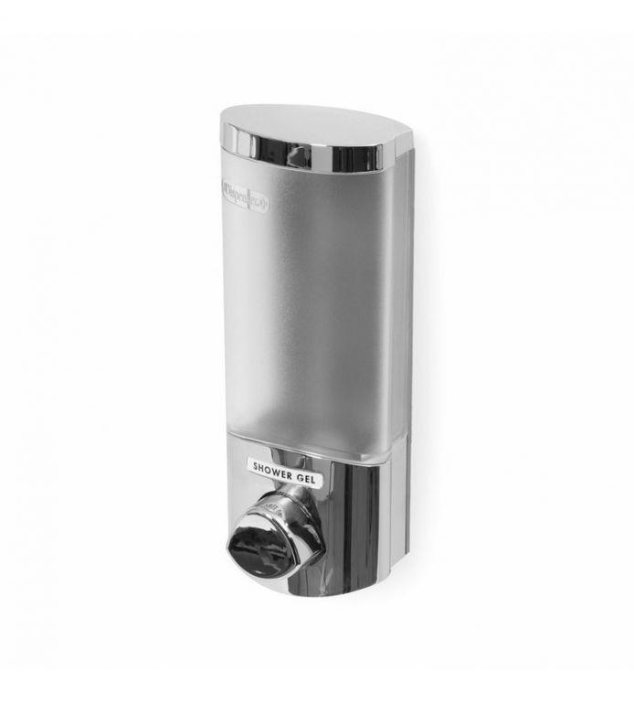 Dávkovač Compactor UNO mýdla / šampónu na zeď, chrom plast, 360 ml
