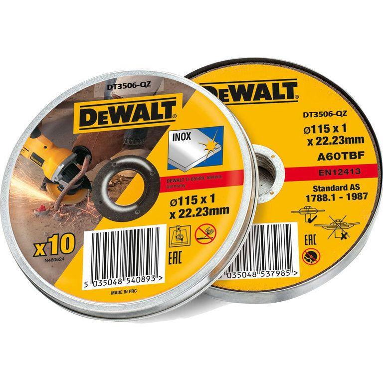 Řezný kotouč Dewalt DT3506 115 mm, 10 ks