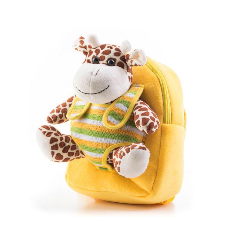 G21 batoh s plyšovou žirafou, žlutý