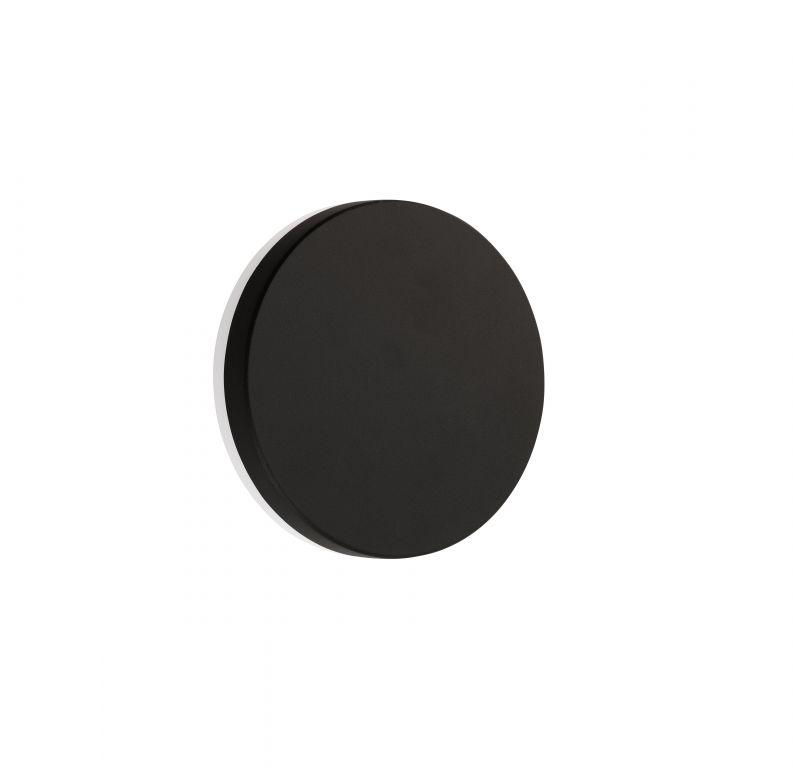 Nástěnné černé svítidlo, IP 54, 8 W