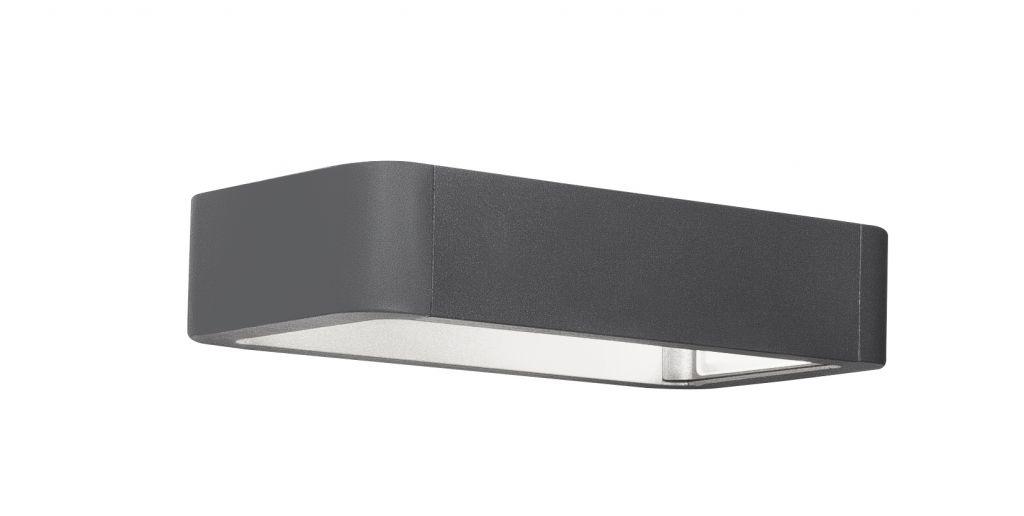 Osvětlení Nova Luce Ned Wall, šedé, 2 x 6 W