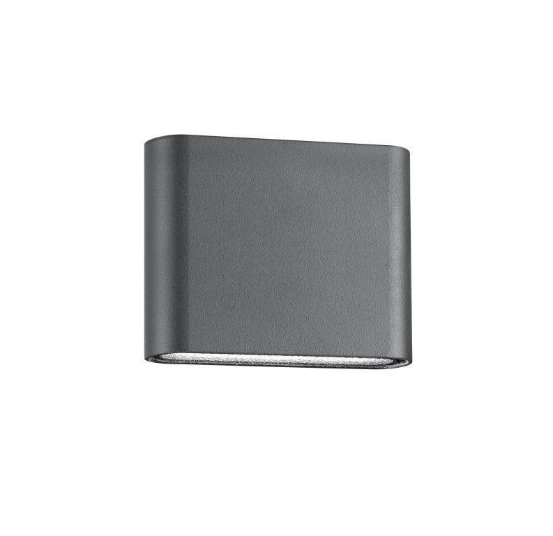 Nástěnné svítidlo šedé, IP 54, 2 x 5 W
