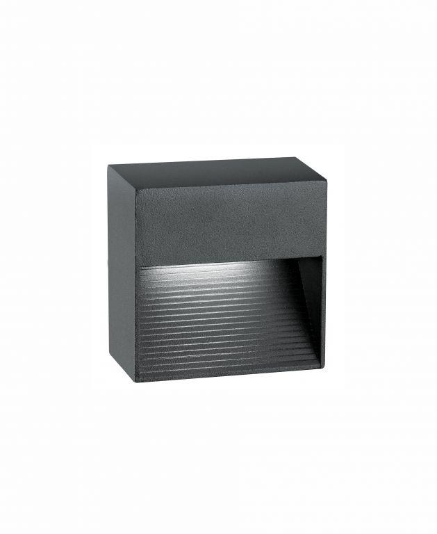Svítidlo Nova Luce KRYPTON S STEP GREY schodišťové, IP 54, 3 W
