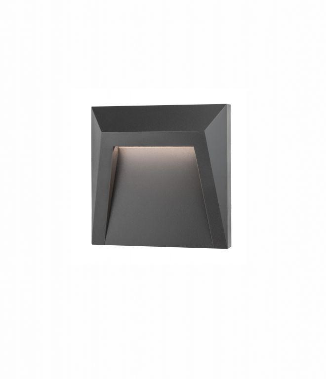 Schodišťové osvětlení Nova Luce Luton, šedé, 125 mm