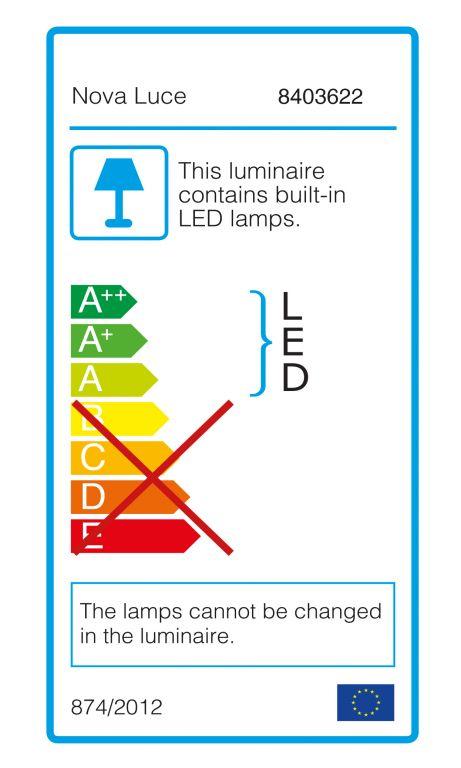 Schodišťové osvětlení Nova Luce Luton, šedé, 23 cm
