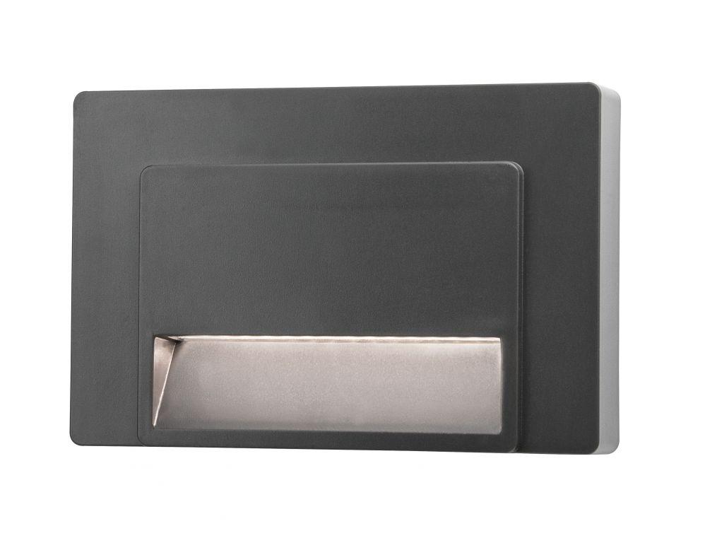 Schodišťové osvětlení Nova Luce Luton, šedé, 12 cm