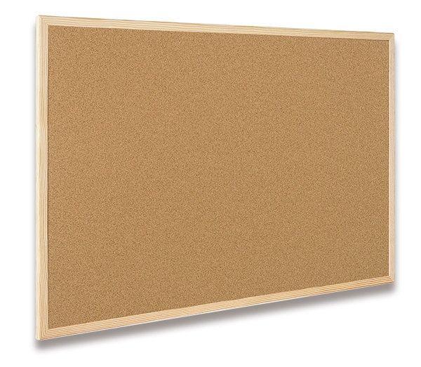 Nástěnka CLASSIC Cork Board Eco 30x40cm, korek, dřevěný rám