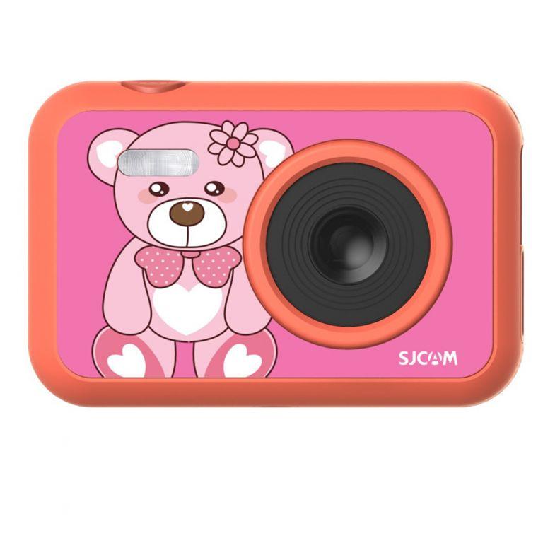 Kamera pro nejmenší SJCAM F1 FunCam - růžová s medvídkem