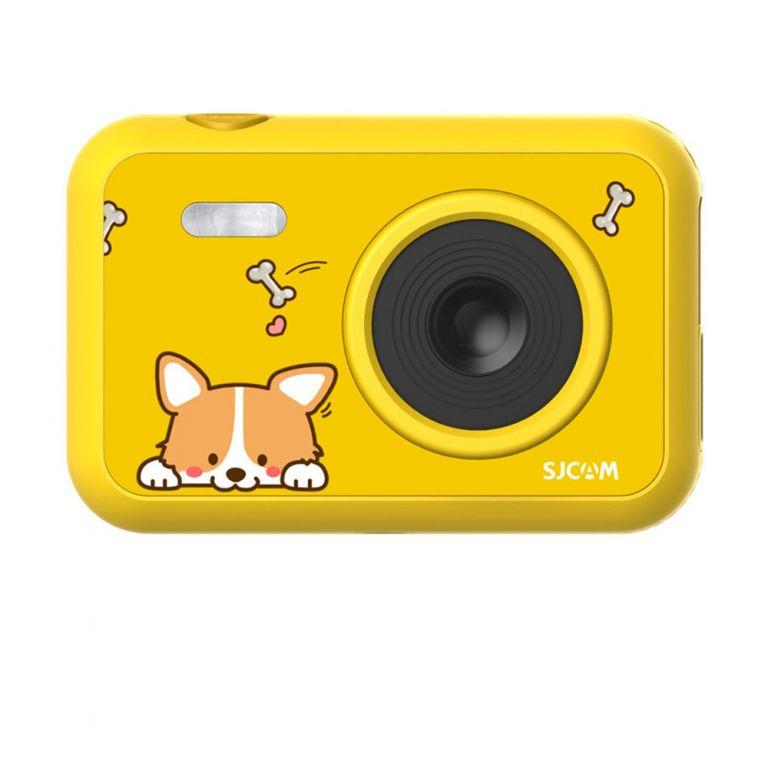 Kamera pro nejmenší SJCAM F1 FunCam - žlutá s pejskem
