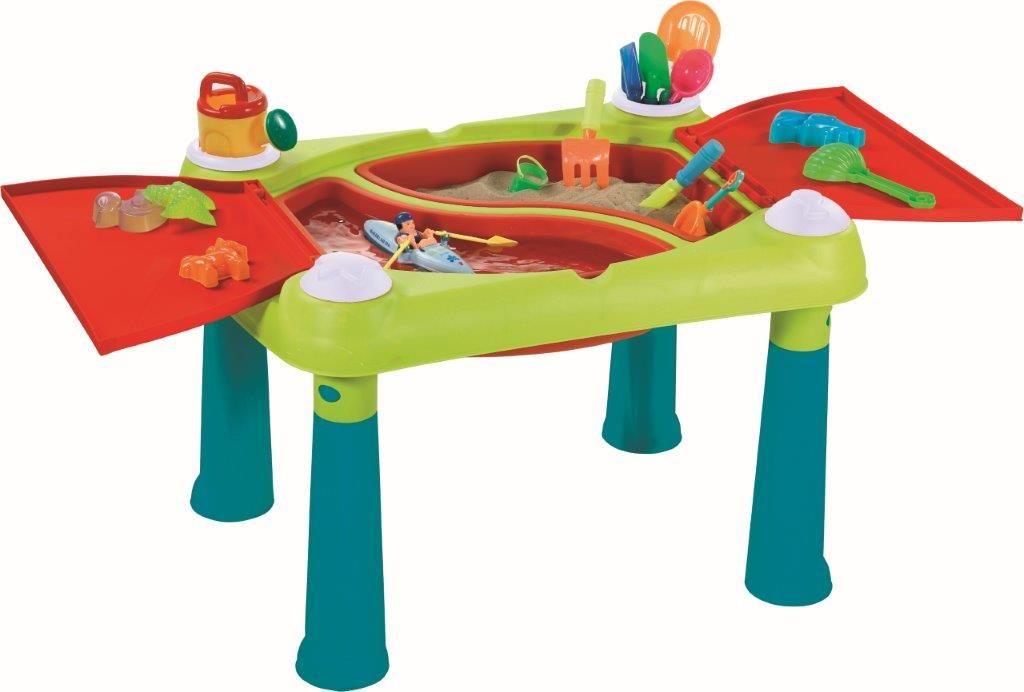 Dětský stolek  tyrkysový / červený