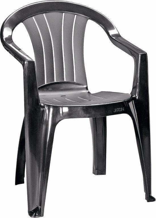 Plastová židle Keter Sicilia grafitová