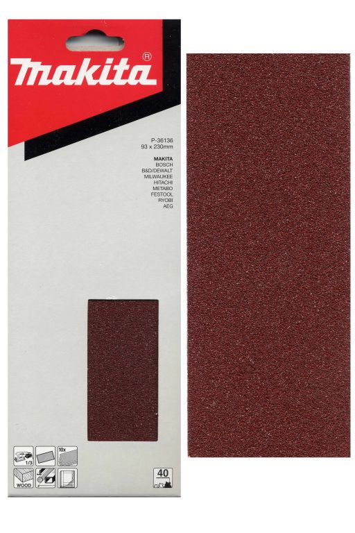Brusný papír Makita P - 36136, 10 ks