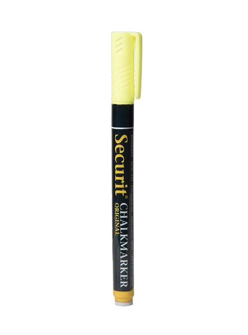 Křídový popisovač Securit šířka hrotu 1-2mm, Yellow