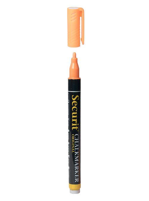 Křídový popisovač Securit  šířka hrotu 1-2mm, Orange