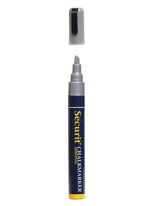 Křídový popisovač Securit  šířka hrotu 2-6mm, Silver