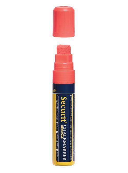 Křídový popisovač Securit  šířka hrotu 7-15mm, Red