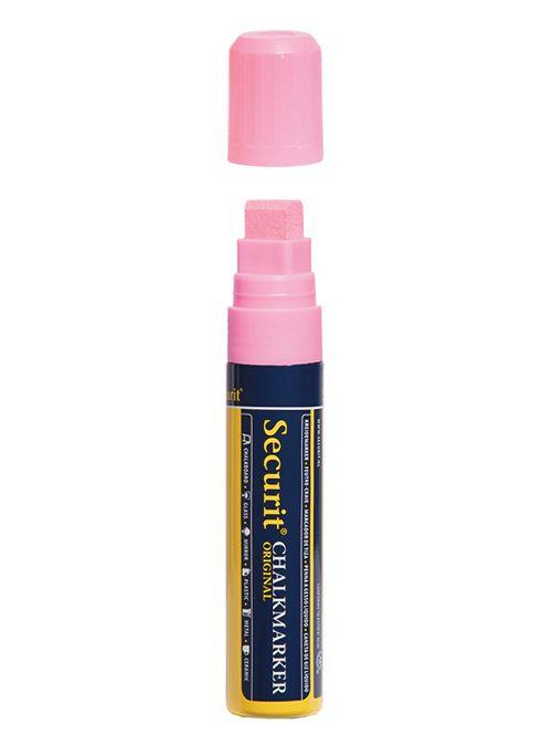 Křídový popisovač Securit  šířka hrotu 7-15mm, Pink