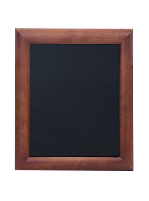 Tabule Securit UNIVERSAL nástěnná na popis křídou 30x40cm, Dark Brown, lakovaná + popisova