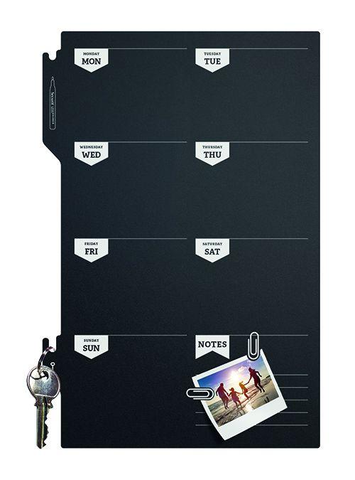 Tabule Securit Silhouette BOARD PLAN plánovací tabule 30x45cm na popis křídou na stěnu + p