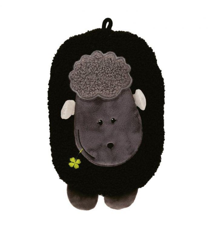Termofor Hugo Frosch dětský Eco Junior Comfort s motivem ovečky - černá