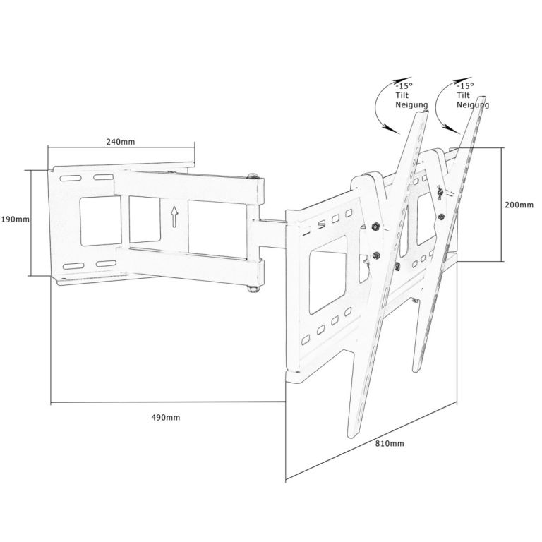 Nástěnný držák pro LCD TV- polohovatelný