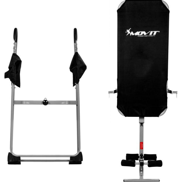 Posilovací inverzní lavice MOVIT - stříbrná