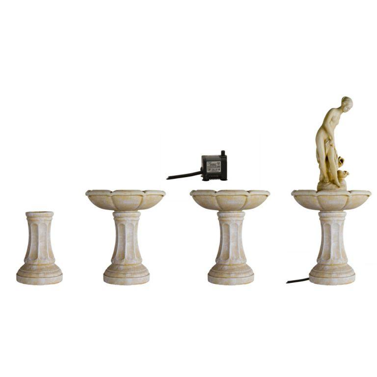 Zahradní kašna - fontána ptačí lázeň v barokním stylu