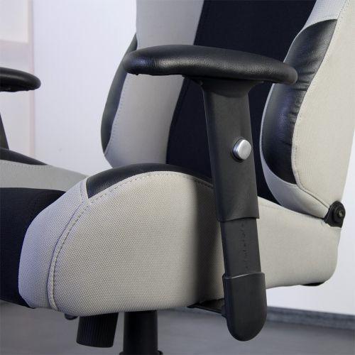 Kancelářská židle stříbrno-šedo-černá